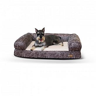 KH Mfg Gray Bomber Memory Dog Sofa