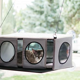 KH Mfg Gray/Black EZ Mount Cat Penthouse