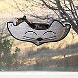 KH Mfg Gray EZ Mount Kittyface Window Bed