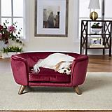 Enchanted Home Pet Romy Wine Pet Sofa