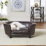 Enchanted Home Pet Coco Pebble Brown Pet Sofa