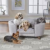 Enchanted Home Pet Quicksilver II Silver Pet Sofa