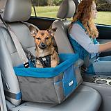 Kurgo Heather Gray/Coastal Blue Pet Booster Seat