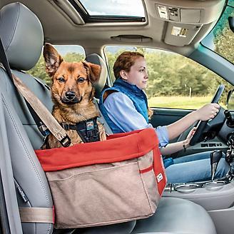 Kurgo Heather Nutmeg Barn Red Pet Booster Seat
