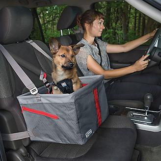 Kurgo Journey Gray/Chili Red Pet Booster Seat