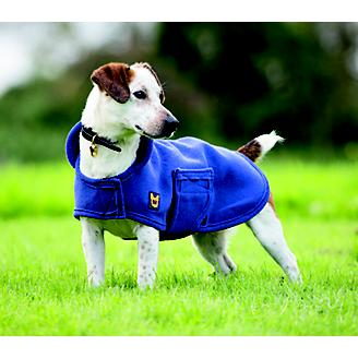 Digby and Fox Navy Dog Towel Coat