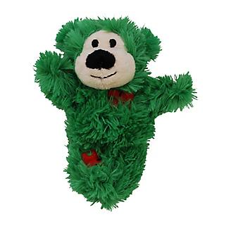 KONG Holiday Softies Patchwork Bear Cat Toy