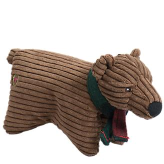 Hugglehounds Cord Squooshie Brown Bear Toy