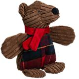 Hugglehounds Corduroy Chubbie Brown Bear Toy