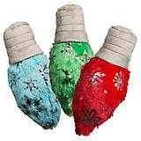 Hugglehounds Glitz Holiday Lights Set of 3 Dog Toy