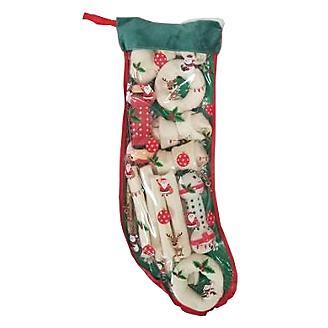 Holiday Rawhide Large Felt Stocking w/Dog Treats