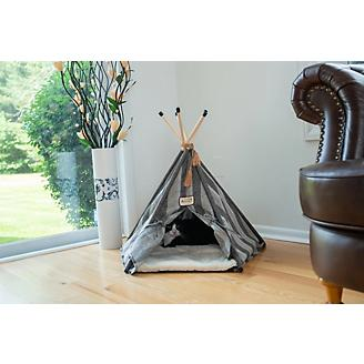 Armarkat Striped Teepee Style Cat Bed