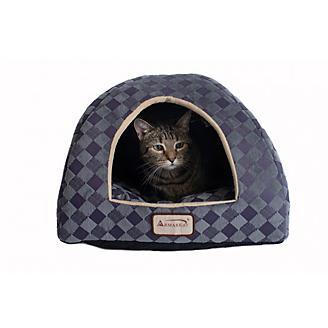 Armarkat Purple/Gray Check Pattern Cat Bed