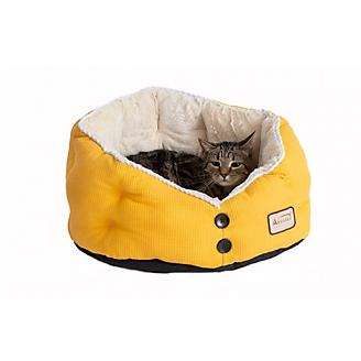 Armarkat Gold Waffle and White Cat Bed