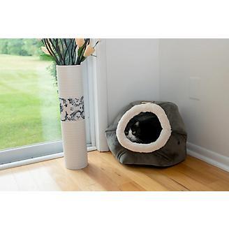 Armarkat Gray Velvet Cat Bed