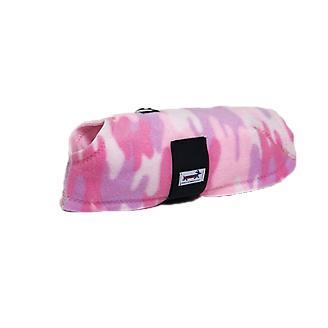Snugpups Pink Camo Fleece Dog Coat