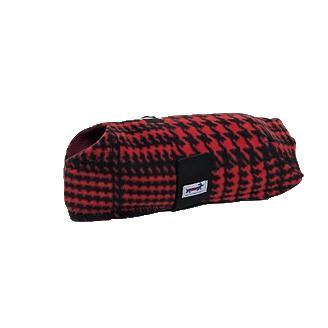 Snugpups Red Houndstooth Fleece Dog Coat