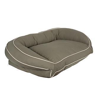 Carolina Pet Sage/Khaki Canvas Bolster Bed