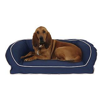 Carolina Pet Blue/Khaki Canvas Bolster Bed