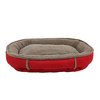 Carolina Pet Red Ortho Round Comfy Cup Bed