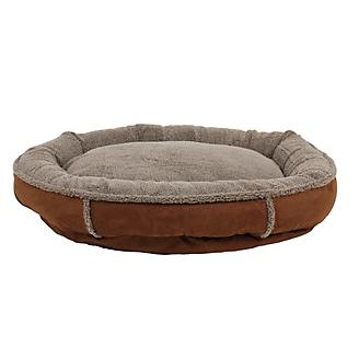 Carolina Pet Chocolate Ortho Round Comfy Cup Bed