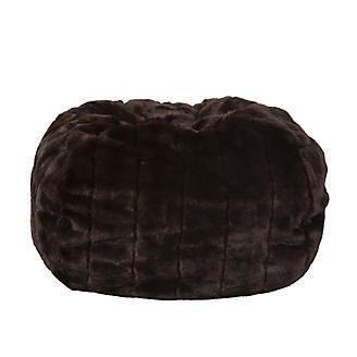 Carolina Pet Brown Mink Faux Fur Puff Ball Bed