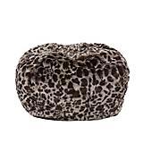 Carolina Pet Leopard Faux Fur Puff Ball Bed