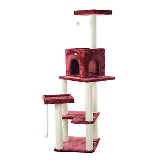 Armarkat A6902B Burgundy Cat Tower and Condo