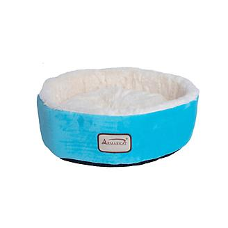 Armarkat 15in Soft Plush Round Donut Cat Bed