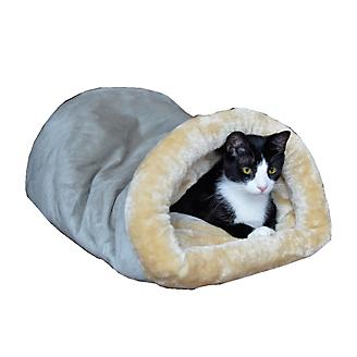Armarkat Sage Green and Beige Soft Cave Cat Bed