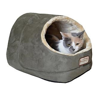 Armarkat Faux Suede Laurel Green Cat Bed and Cave
