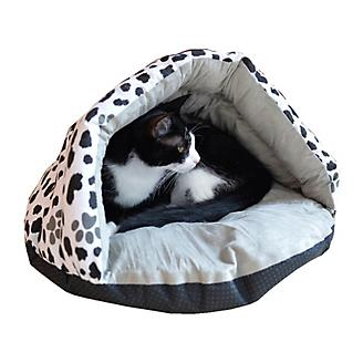 Armarkat Sage Green and Paw Print Slipper Cat Bed