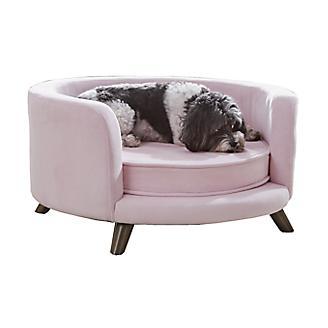 Enchanted Home Pet Rosie Blush Pink Pet Sofa