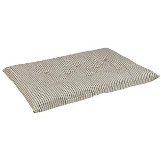 Bowsers Augusta Ticking Tufted Cushion Dog Bed