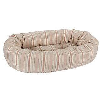 Bowsers Sanibel Stripe Linen Donut Dog Bed