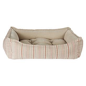 Bowsers Sanibel Stripe Linen Scoop Dog Bed