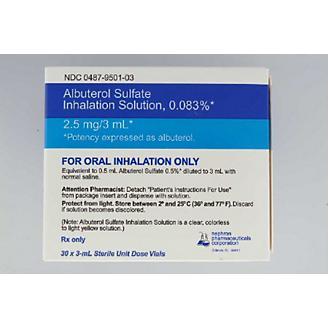 Albuterol Inhalation Solution 0.083 3ml 30 Count
