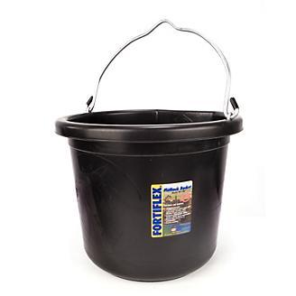 Fortiflex Flat-Back Bucket 6 Gallon Black - Statelinetack com