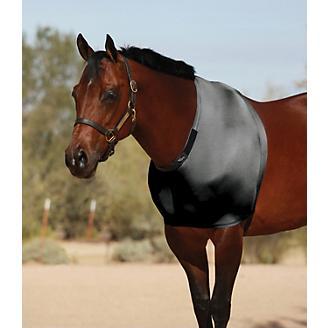 Q/&A SUPPLY STRETCH SHOULDER GUARD//HORSE LYCRA VEST IN LARGE//BURGUNDY