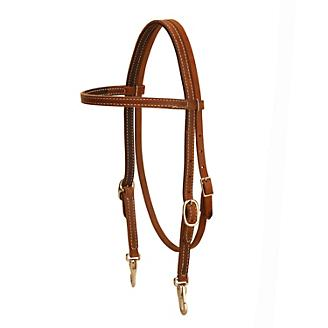 Tory Harness Leather DS Snap Browband Headstall