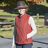 Outback Trading Ladies Quilted Vest Small Rust
