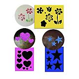 Twinkle Stencil Set Flowers Stars and Hearts