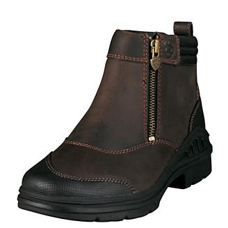 75828ba6b45 Ariat Ladies Barnyard Side Zip Boots 6 - Statelinetack.com