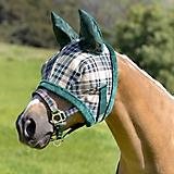 Kensington Fly Mask w/Fleece and Ears XL Black Pla