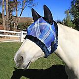 Kensington Fly Mask w/Fleece and Ears MD Dark Blue