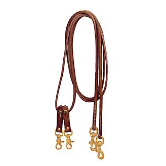 Tory Harness Leather Sliding Pulley Draw Reins