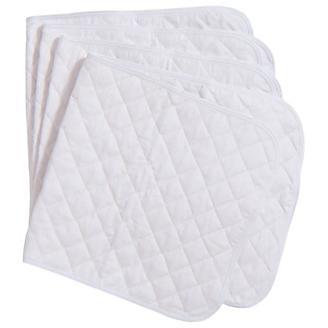 Tough-1 Basic Quilted White Leg Wraps