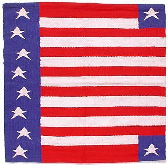 Patriotic American Flag Western Saddle Blanket