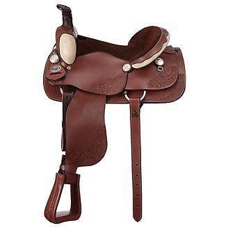 Royal King Texas Roper Saddle Medium Brown 15 5 - Statelinetack com