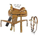 Pecos 6-Piece Roper Saddle Package